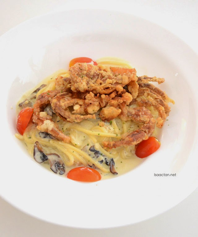 Carbonara with Soft Shell Crab - RM19.90