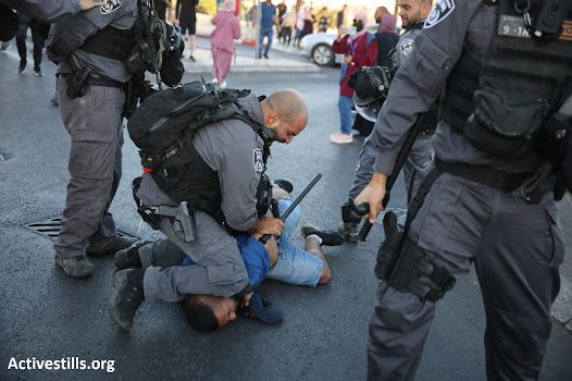 Assaulting a protester in Jerusalem