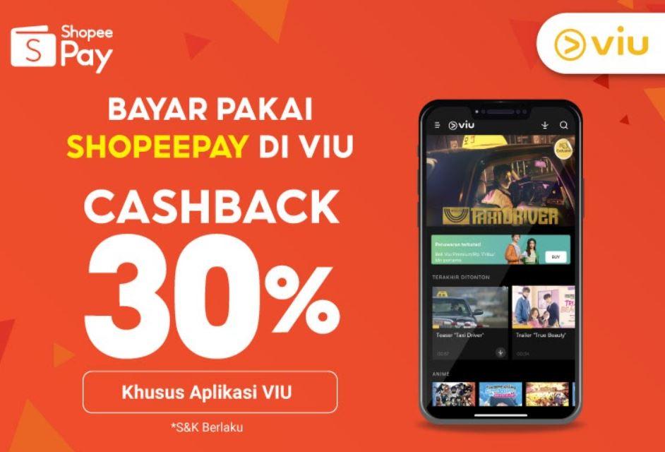 ShopeePay Kini Bisa Dipakai Buat Bayar Langganan Viu, Tawarkan Promo Cashback 30%