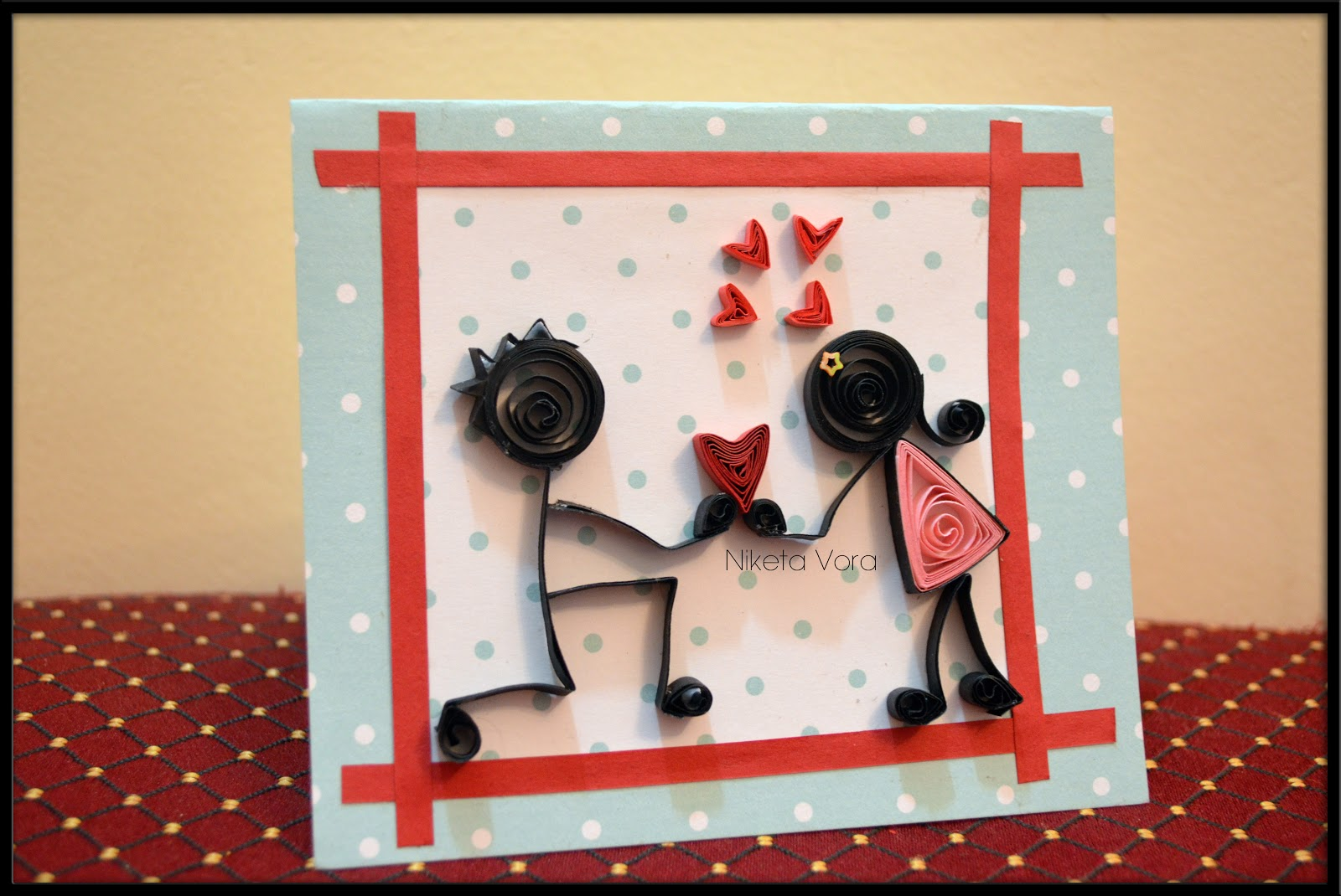 Paper quilling love cards arts and crafts to make paper quilling love cards jeuxipadfo Images