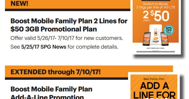 Boost Launches New Two Lines For $50 Promotional Family Plan
