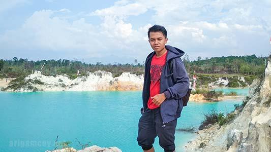 Wisata Sambas Danau Biru Selakau Timur yang lagi Viral di Kalimantan Barat