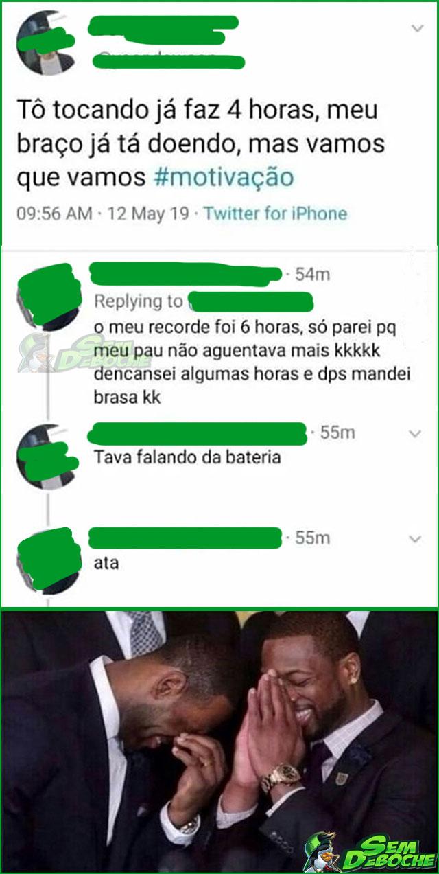 TOCANDO OUTRO TIPO DE INSTRUMENTO