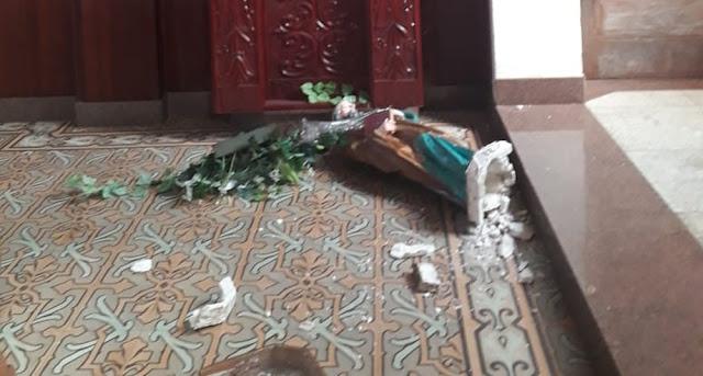 Polícia Civil investiga ato de vandalismo em igreja em Presidente Epitácio
