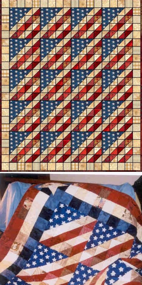 Glory in Scraps - Free Quilting Pattern