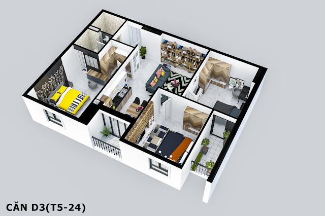 Thiết kế căn hộ Tabudec Plaza