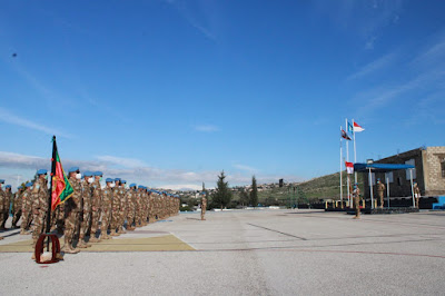 Komandan Konga UNIFIL Pimpin Pelepasan Rotasi Personel Chalk 6 Satgas Yonmek XXIII-N