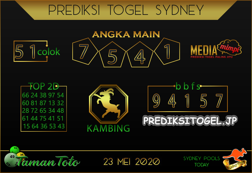 Kode Syair Sydney Sabtu 23 Mei 2020 - Taman Toto