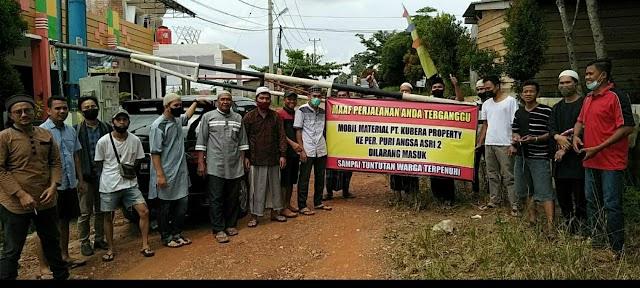 PT Kubera Ingkar Janji, Warga Ancam Blokir Jalan Masuk Perumahan
