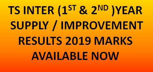 TS Inter Supply Results 2019 for 1st 2nd year available now