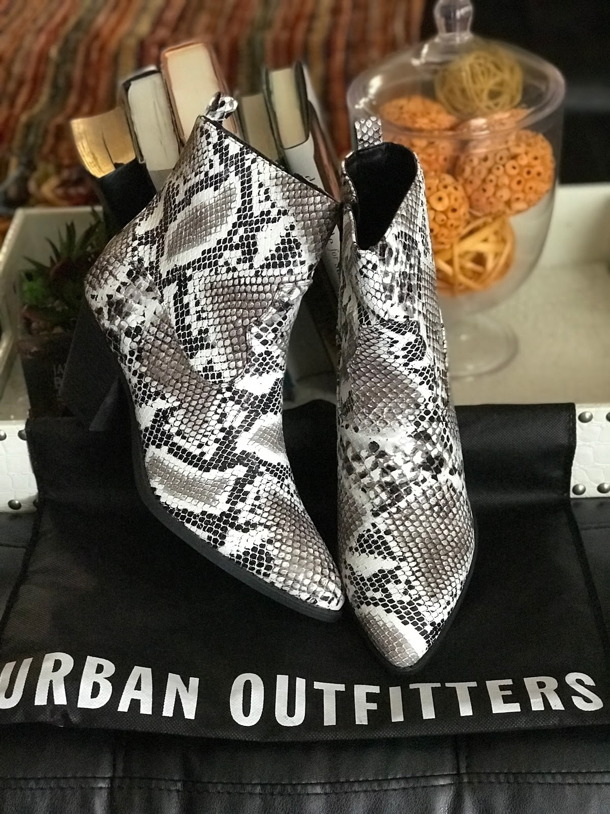 Image: Snakeskin boots Tangie Bell Bought from Catos Fashion to share on her blog Bits and Babbles