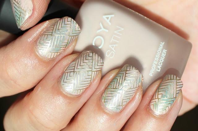 Matte smoosh with stamping nail art