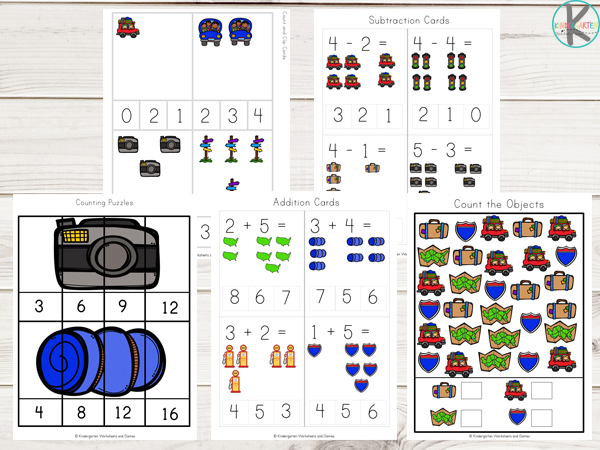 Road-Trip-Printable-kindergarten-math-counting-addition-subtraction-skip-counting