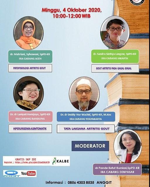 Seminar Daring IRA Cabang Yogyakarta Minggu, 4 Oktober 2020
