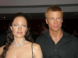 Esculturas de cera de Brad Pitt y Angelina Jolie