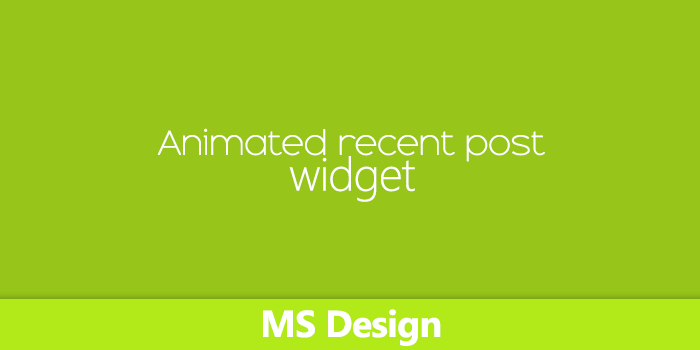 Blogger Awesome Animated recent post widget