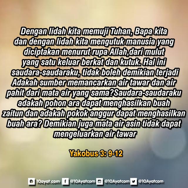 Yakobus 3: 9-12