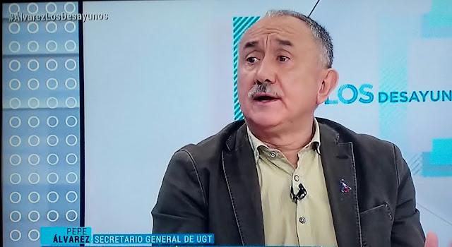 """Pepe Álvarez : """" Queremos un Gobierno de progreso porque la mayoría de españoles ha votado izquierda"""""""
