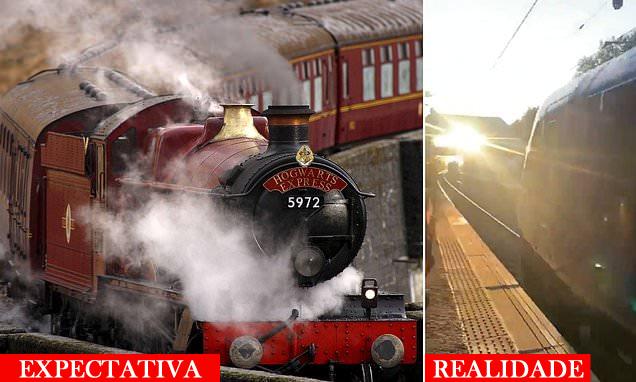 Fãs de 'Harry Potter' esperam para ver o Expresso de Hogwarts, mas a visão é bloqueada por outro trem | Ordem da Fênix Brasileira