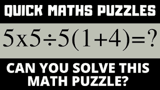 Can you solve this maths puzzle? 5x5÷5(1+4)=?