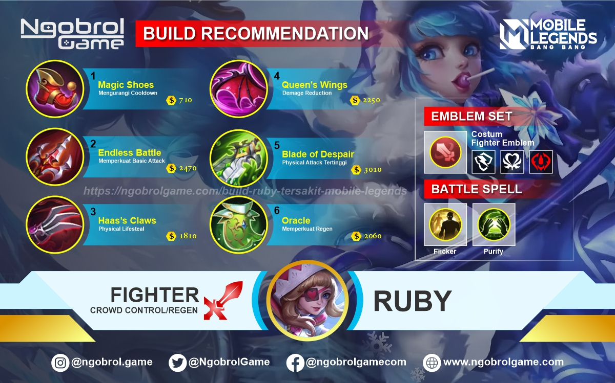 Build Ruby Top Global Tersakit Mobile Legends