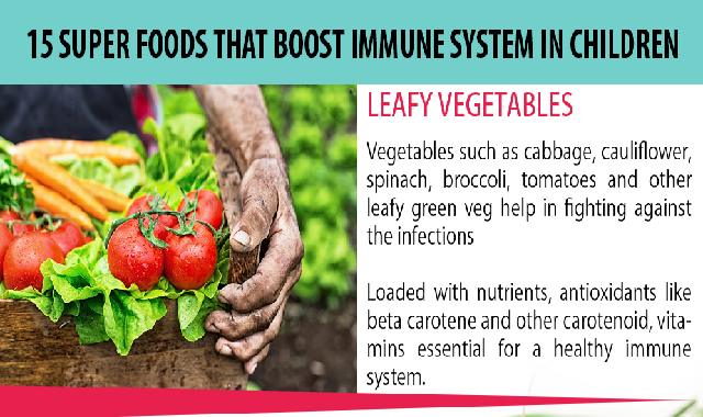 15 Super Foods that Boost Immune System in Children #infographic