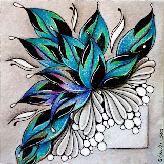 100 Days of Zentangle with Day 97 with Sindoo and day 91 with Sanibelle