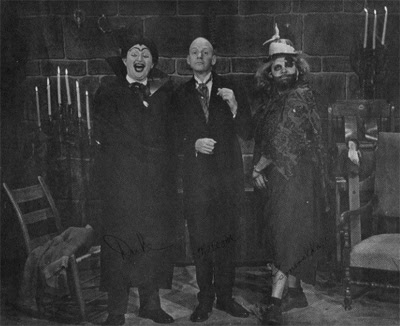 Publicity still of horror hosts The Duke, Malcolm and Esmeralda, Gravesend Manor, circa mid-'60s