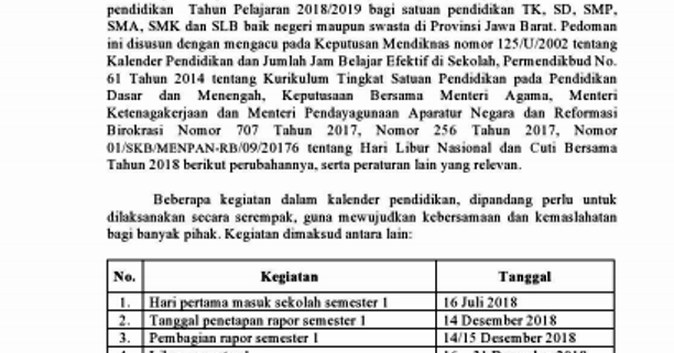 Guru Privat SMA Jogja: Kalender Pendidikan Tk, Sd, Smp ...