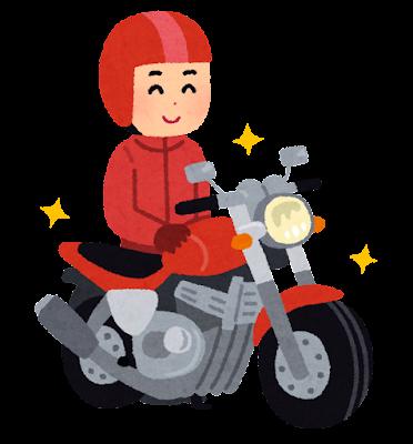 バイクが好きな人のイラスト(男性)
