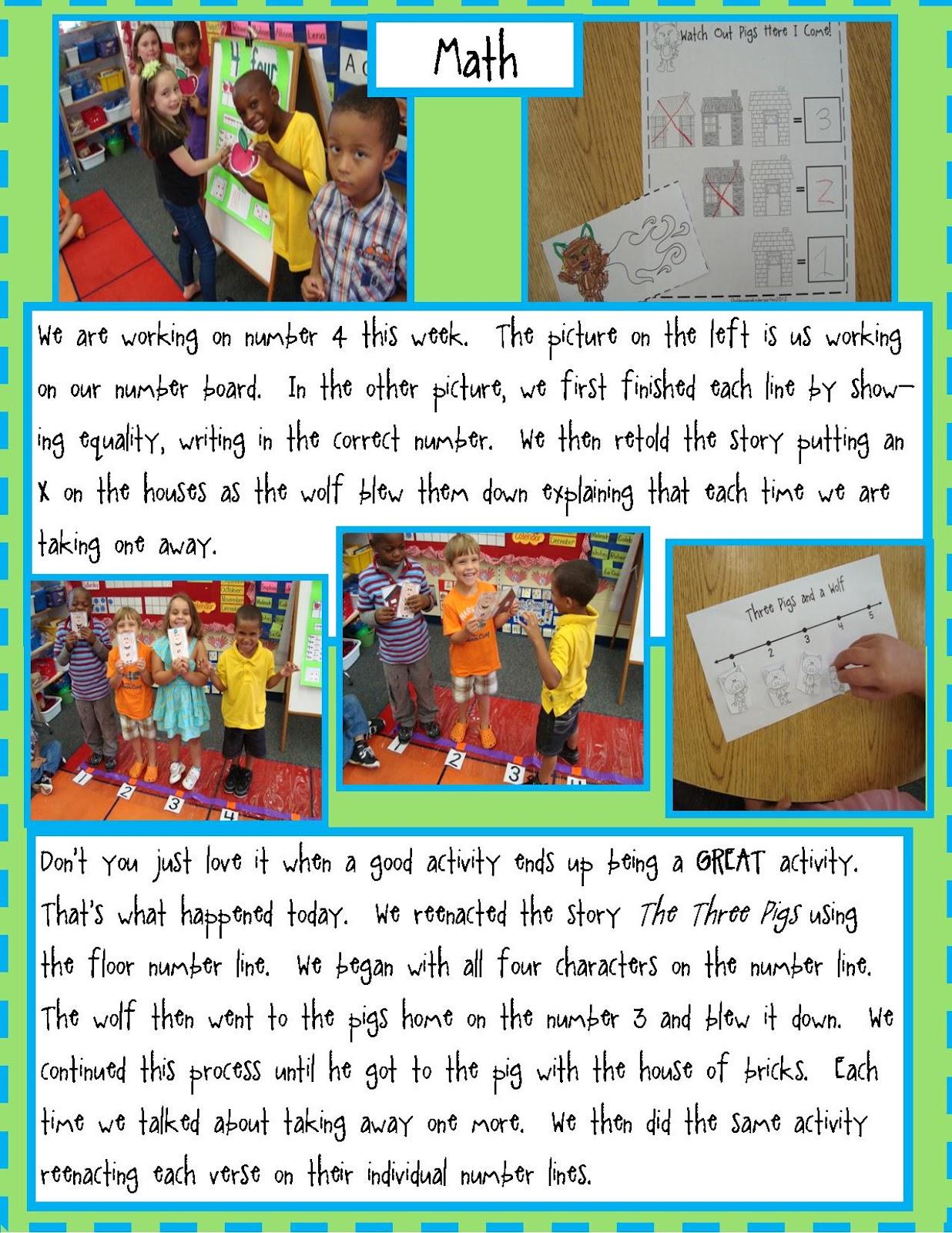 Golden Gang Kindergarten The Three Pigs And Free Math