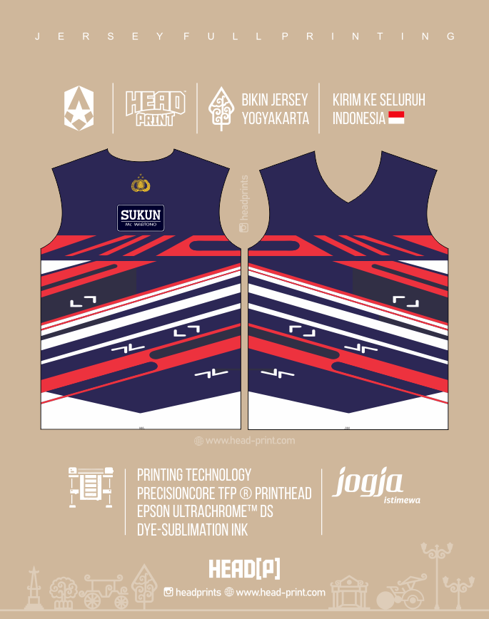 Logo Bhayangkara Jersey Volly Volley Contoh Desain Jersey Voly - Badminton Jersey - Futsal Jersey - Headprint Yogyakarta