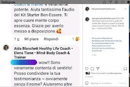 Testimonianze di Guarigione dal dolore pelvico, vulvodinia, stress - Elena Tione Healthy Life Coach - www.AidaBlanchett.com