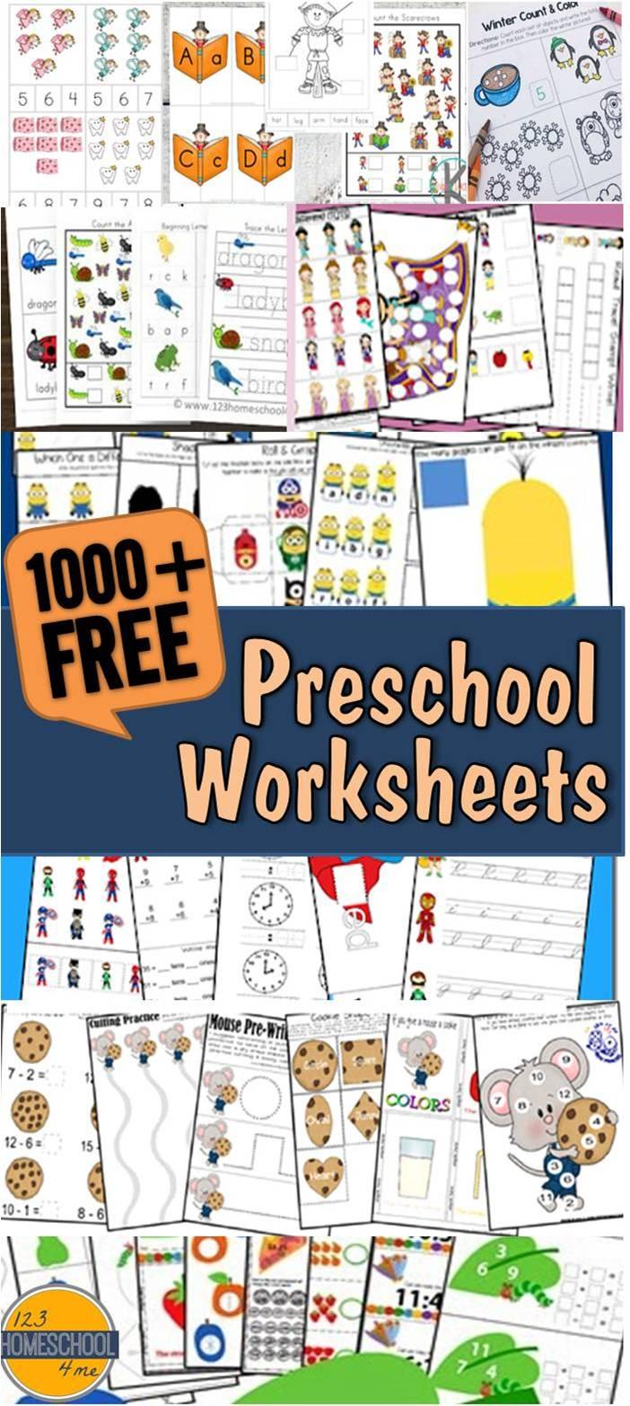 123 Homeschool 4 Me: Preschool Worksheets