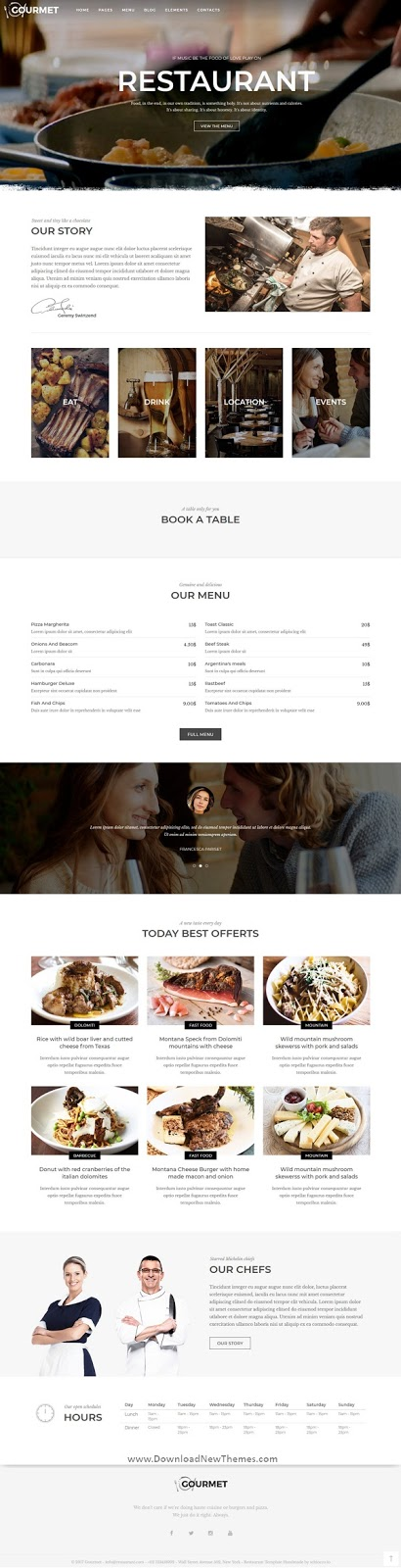 Restaurant and Food Joomla Template