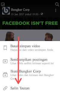 Salin link tautan video facebook