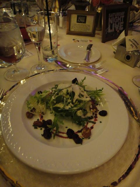 Disneyland Wedding - Salad with dried cherries and vinaigrette