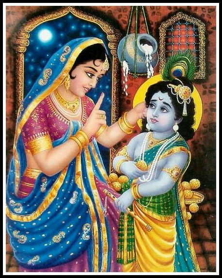 baby krishna with yashoda images