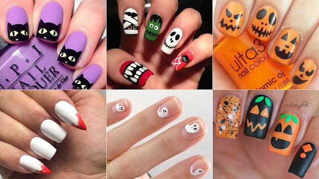 inspirações unhas para halloween