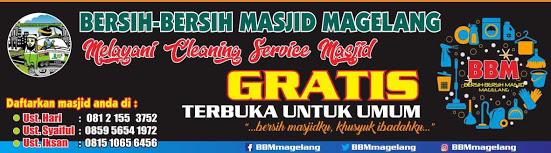 Melayani Cleaning Service Masjid Gratis wilayah Kabupaten dan Kota Magelang