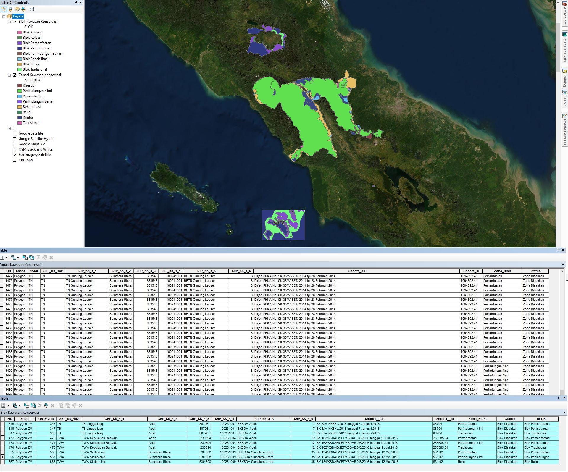 SHP (Shapefile) Area Konservasi Seluruh Indonesia