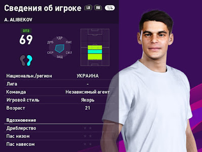 PES 2020 Faces Ahmed Alibekov by Serge