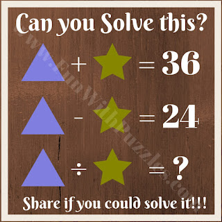 Maths brain teaser question for kids