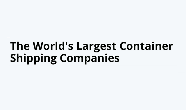 Largest container shipping companies in the world