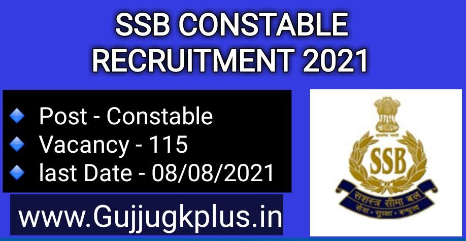 SSB Constable Recruitment 2021