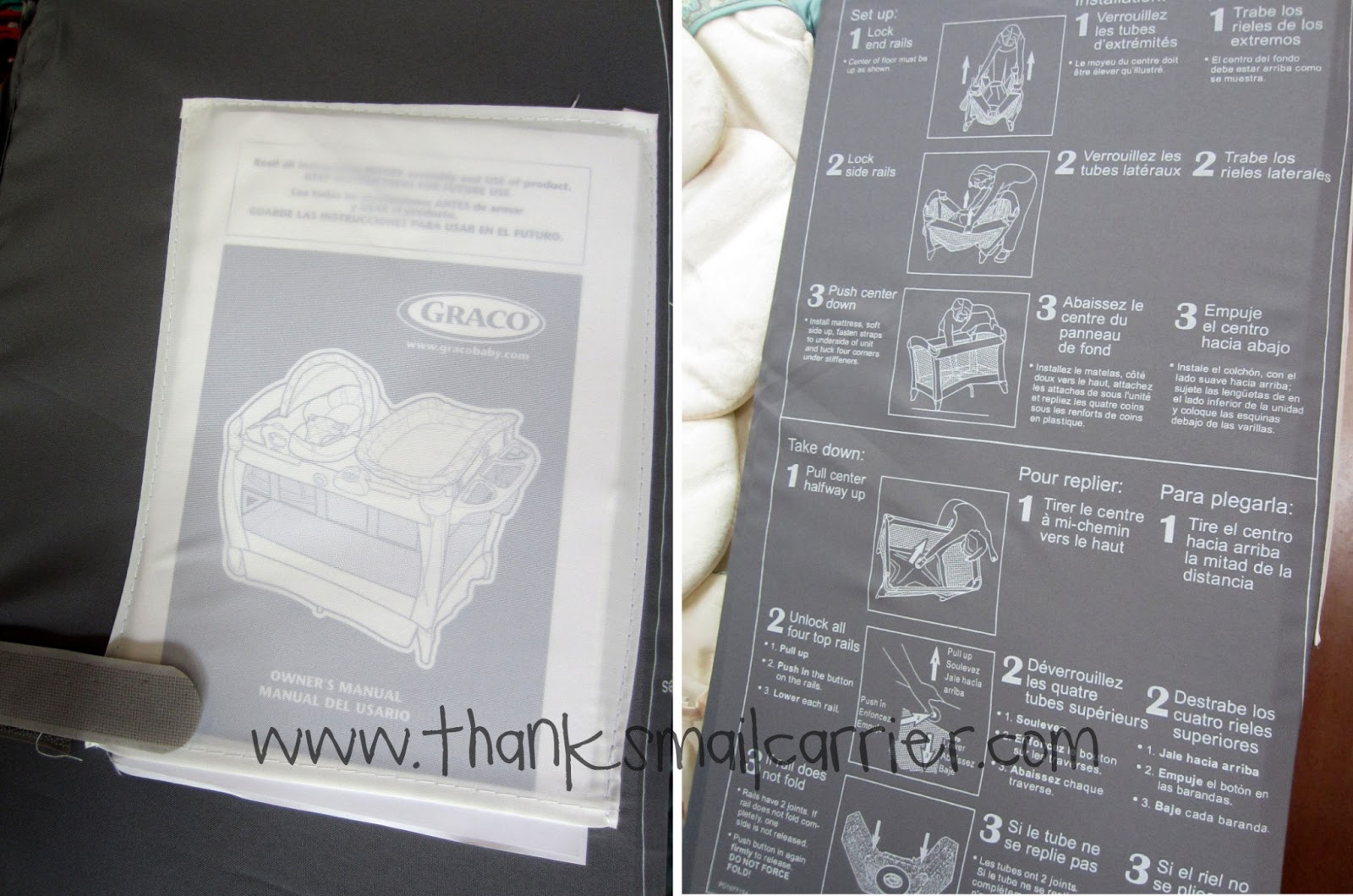Graco Pack N Play Changing Table Instructions Playard Silhouette Farrow Thanks Mail Carrier With Cuddle Cove