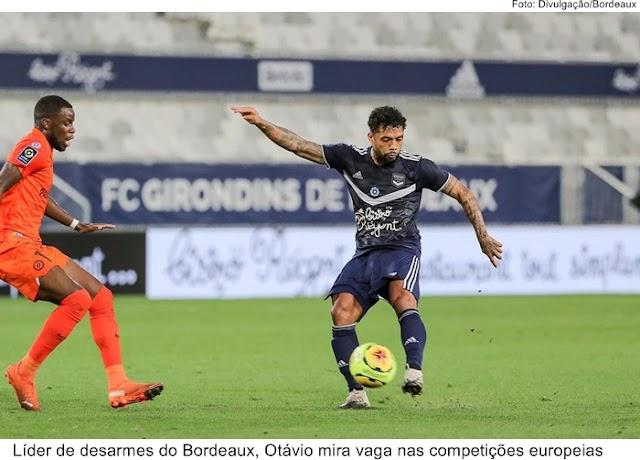 Líder de desarmes do Bordeaux, Otávio mira vaga nas competições europeias