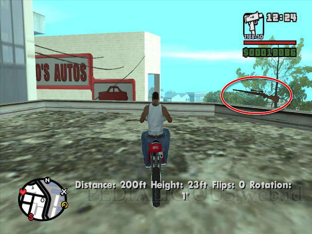 Lokasi Sniper Rifle Downtown, San Fierro GTA SA