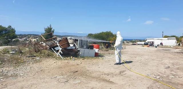 Υγειονομικές δράσεις του Δήμου Ερμιονίδας στον καταυλισμό των Ρομ