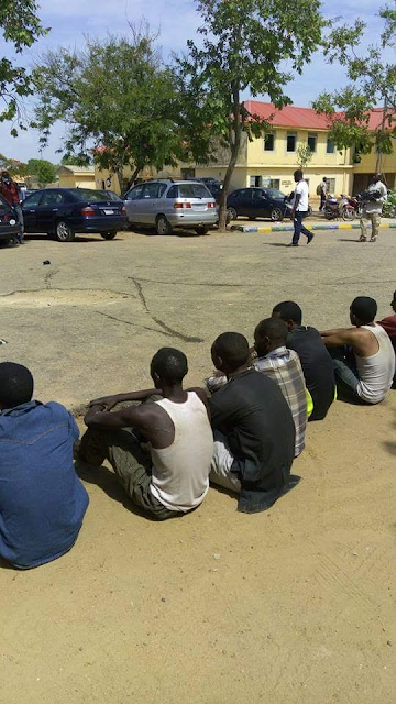 Photos: Police parade suspected armed robbers who shot dead bus conductor in Bauchi State